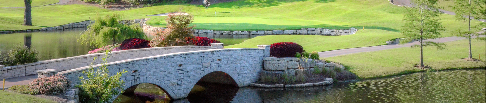 Bridge on the golf course.